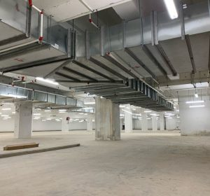 CASWELL FIRESAFE® smoke extract ductwork installed in basement car park by Firesafe Partner, Prudentaire