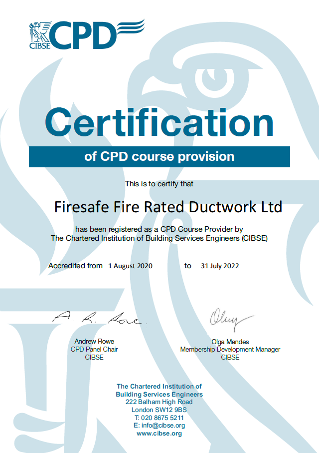CIBSE CPD Official Certificate 2020-2022