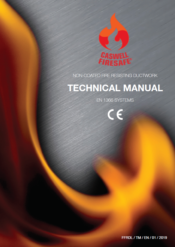 Cover page of FFRDL's EN Technical Manual. EN 1366 CE