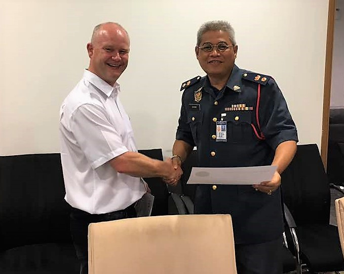 Presentation of Certificate to Bomba personnel in KL Malaysia