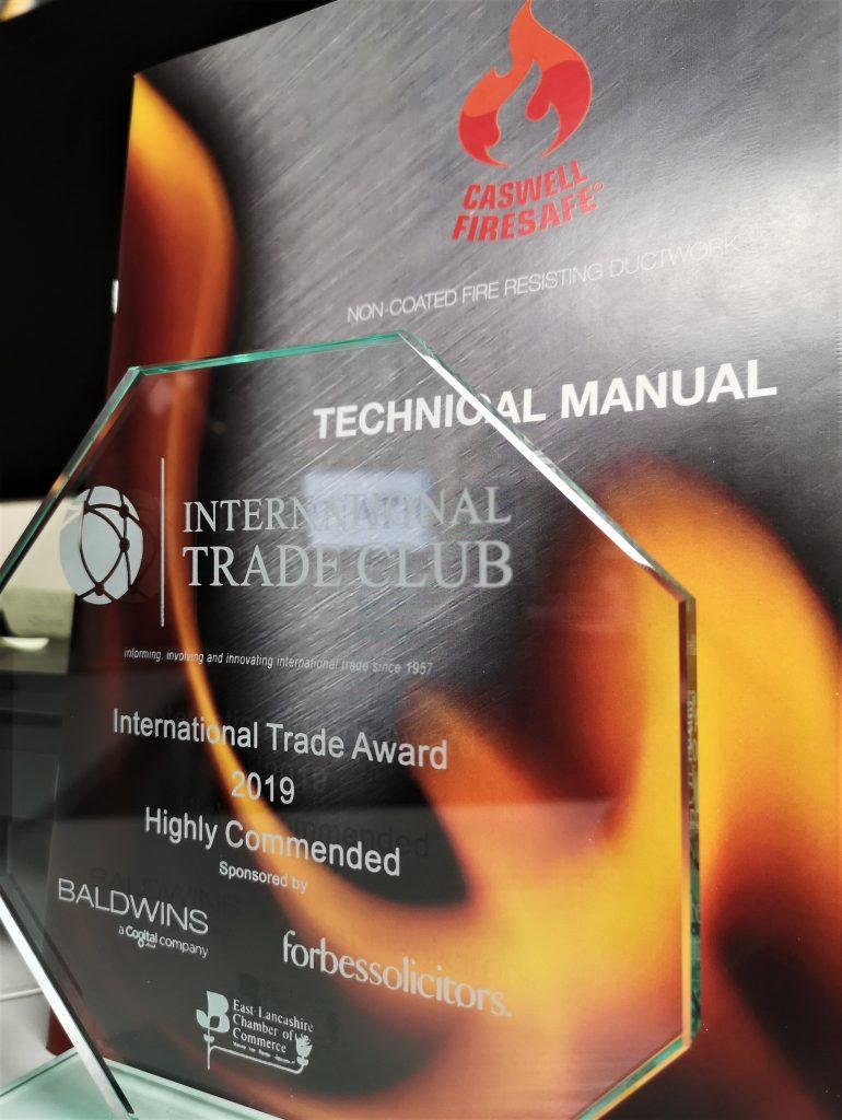 ITC 2019, award,Firesafe,Technical Manual