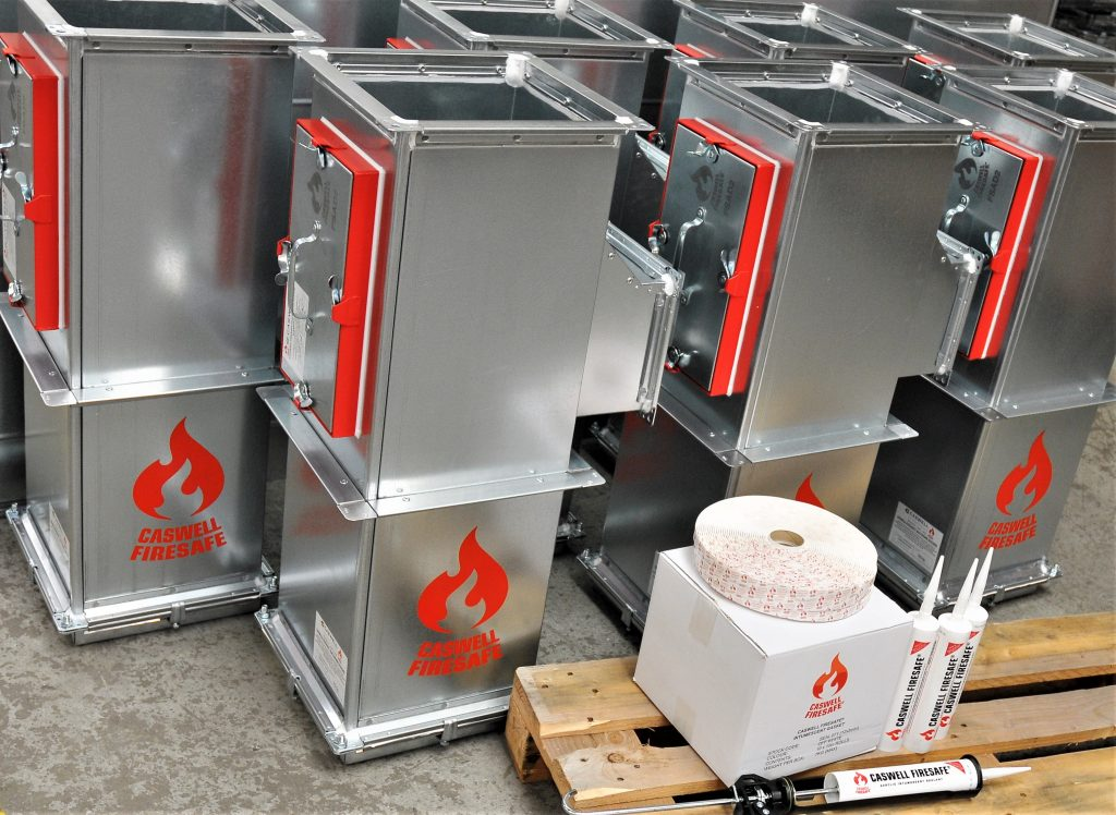 A picture showing CASWELL FIRESAFE® FIRE RESISTING DUCTWORK