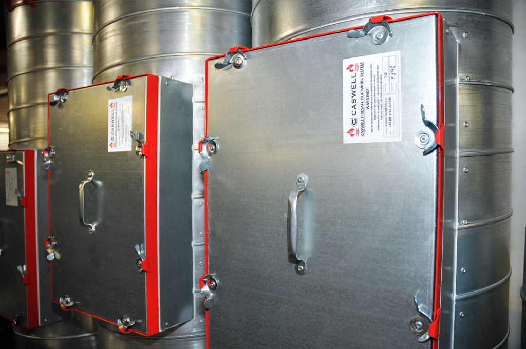 CASWELL FIRESAFE® Access Doors on Spiral ducting