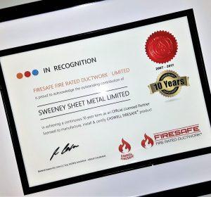 Firesafe,10 year certificate,SSM