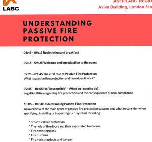 Firesafe present at ASFP LABC event