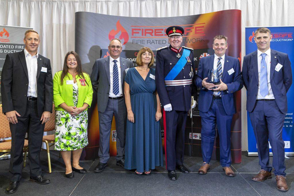 Queen's Award,Firesafe Directors,Mark Harrison,Helen Broughton MBE,Deputy Lord Lieutenant of Lancashire,Charles Coxen,Carolyn Branagan,Lord Shuttleworth KG KCVO,Lord-Lieutenant of Lancashire,Richard Coxen,Robert Coxen