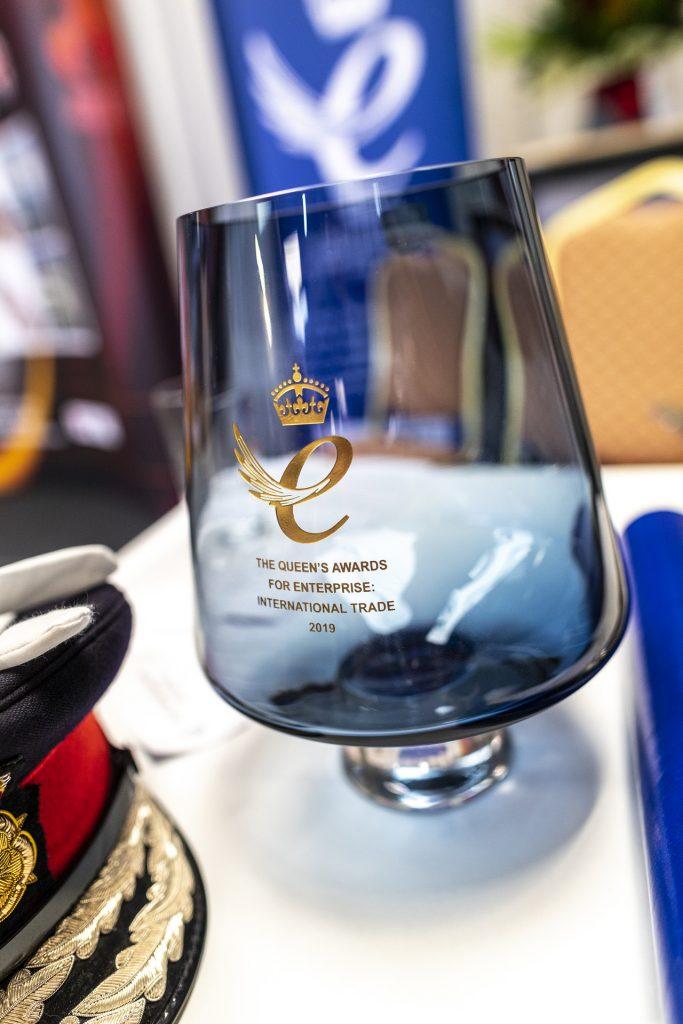 Queen's Award for Enterprise,trophy, Dartington Glass