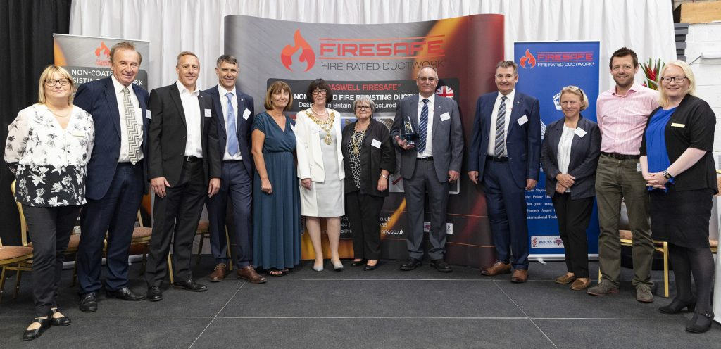 Queen's Award, Firesafe Directors,Mayor of Rossendale, Alyson Barnes, Gary Sheader