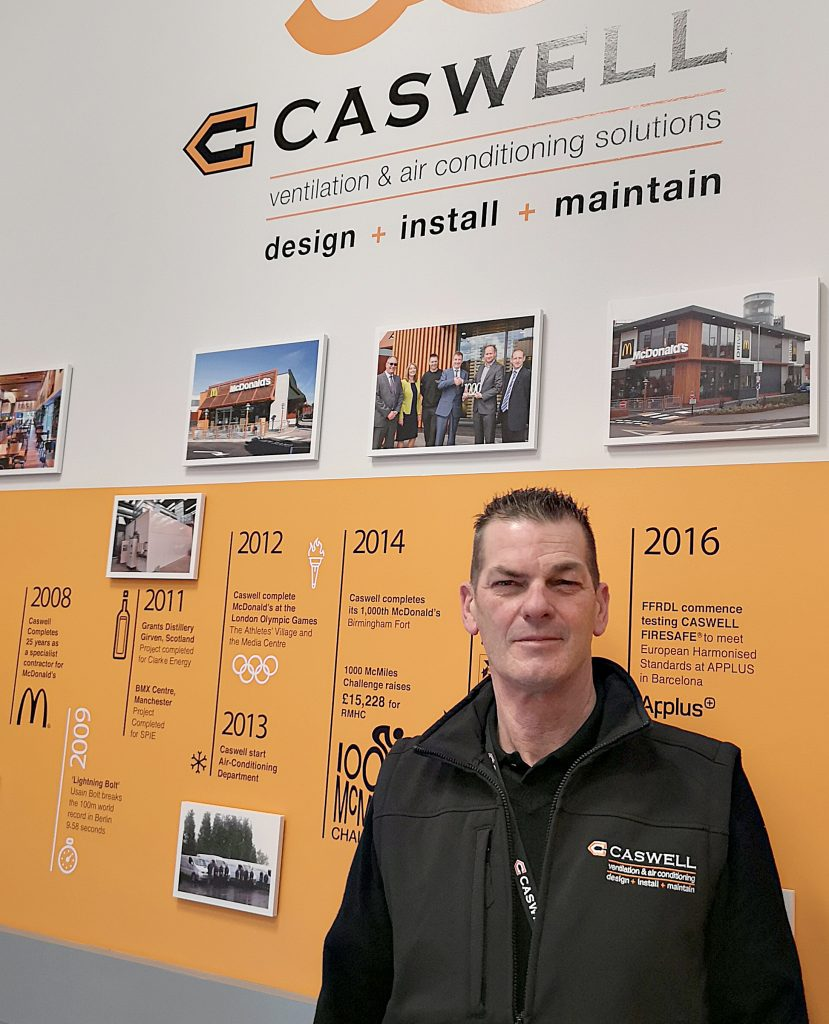 Cliff Anders, Caswell FRD new Quality Inspector of CASWELL FIRESAFE® fire resisting ductwork installations