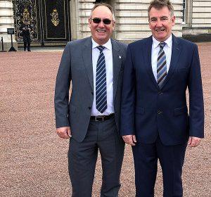 Richard Coxen,Charles Coxen,Buckingham Palace reception for Queen's Award,2019