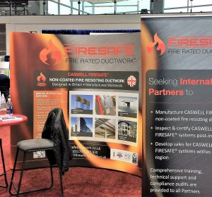 A picture of the CASWELL FIRESAFE® exhibition stand at AHR Expo Chicago 2018