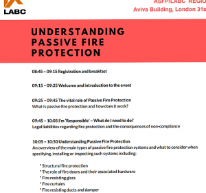 fire rated,Firesafe present at ASFP LABC event