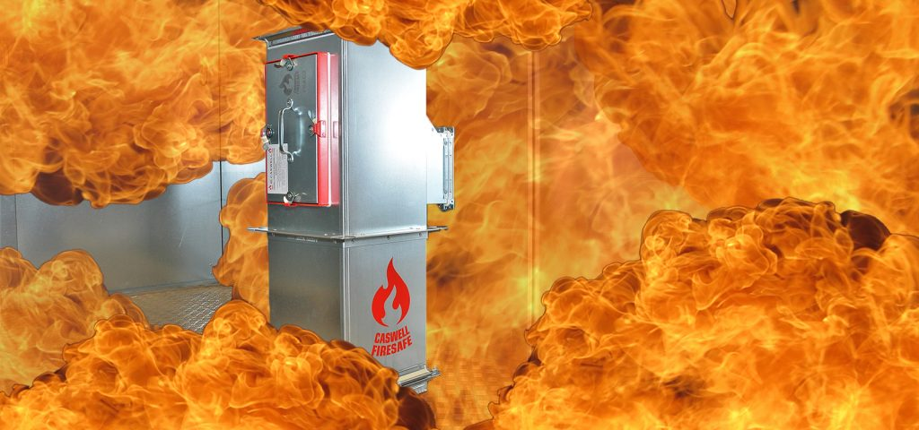 CASWELL FIRESAFE® non-coated fire resisting ductwork to BS 476:Part 24 simulated fire